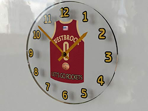 FanPlastic Russell Westbrook 0 OKC Oklahoma City Thunder NBA Orologio da Parete - American Basketball Legends Edizione Limitata
