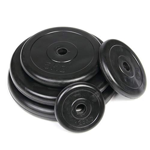 FOTGL Las Placas de Peso - un par de fundición de Hierro de 25 mm Peso Discos Agujero fraccional Peso Placas Barbells por un Entrenamiento de la Fuerza con Barra Plate (tamaño : 10KG*2)