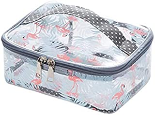 Flamingo Toiletry Bag Multifunction Cosmetic Bag Portable Makeup Pouch Waterproof Travel Cube Case