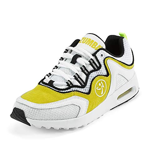 Zumba Athletic Air Classic Gym Fitness Sneakers Dance Workout Shoes for Women, Yellow, 11