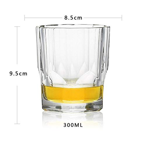 XCVB Whisky-glas kopjes van kristalglas, loodvrij, hoge capaciteit, staaf van bierglas, hotel, glas, 7 soorten