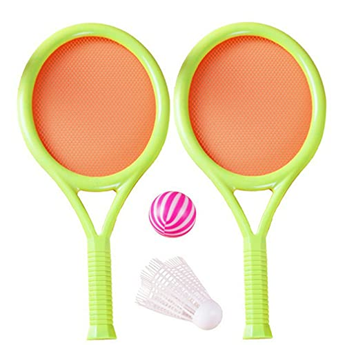 Raqueta de tenis de los niños fijó tenis divertido con las bolas para el jardín casero playa multicolor mezclado
