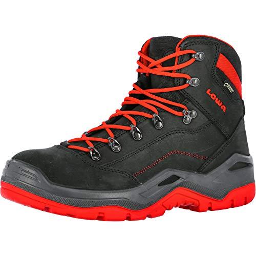 Lowa Renegade Work GTX Mid S3, Farbe:schwarz/rot, Schuhgröße:41 (UK 7)