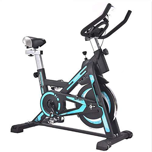 HY-WWK Bicicleta Estática para Interiores, Bicicleta Estática Giratoria Pantalla Lcd Sistema de Transmisión por Correa Estable Y Silencioso Bicicleta Estática con Volante Adecuado para Ejercicio en I