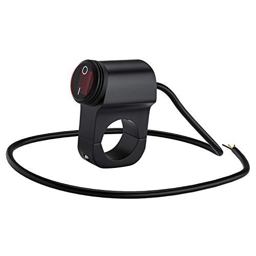 FWUDI Interruptor de Encendido 12V Interruptor de Manillar de aleación de Aluminio Modificado de Motocicleta Interruptor de luz antiniebla a Prueba de Agua 12V