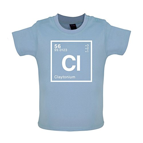 Clayton - Periodic Element - Baby/Toddler T-Shirt - Dusty Blue - 12-18 Months
