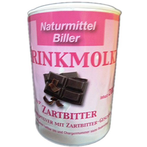 Molke Biller Trinkmolke Zartbitter Doppelpack Molkepulver Molkegetränk Molkeneiweiß Geschmack Zartbitter 2x 200g Dose