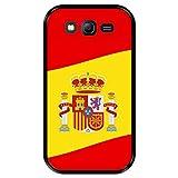 Funda Negra para [ Samsung Galaxy Grand Lite - Grand Neo - Neo Plus ] diseño [ Ilustración 2, Bandera de España ] Carcasa Silicona Flexible TPU