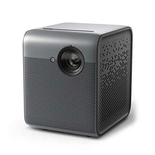 Yamyannie Projektoren DLP 3D-Projektor 550An-Lumen 1080p-Unterstützung 4k Android 2 + 16 GB Vierweg-Trapezkorrektur Smart Home Theatre-Projektor für das Kino (Farbe : Black, Size : OneSize)
