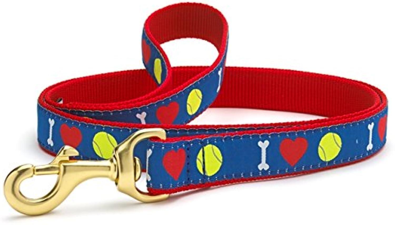 I Heart Tennis Dog Leash (6 ft Long) 5 8  Wide