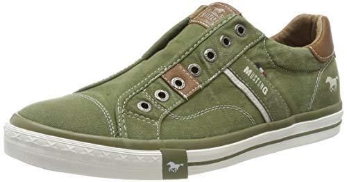 MUSTANG Herren 4072-403-77 Slip On Sneaker, Grün (Oliv 77), 44 EU