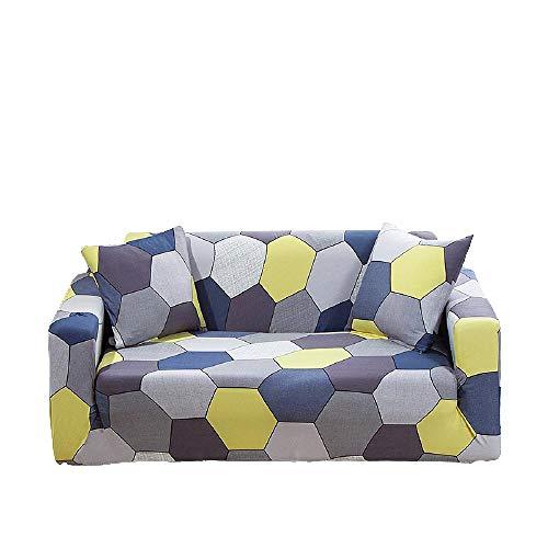 Funda de sofá con Todo Incluido Patrones geométricos Fundas Fundas de sofá elástico con Estampado Moderno Protector de Muebles Funda de sofá seccional Forma de L,Colour3,2 Seater 145-185cm