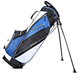 Fanuosuwr Bolsa de Golf Popular Ligera Golf Rack Bolsa Golf Club Set con Varias Bolsas de Almacenamiento for Hombres y Mujeres Equipo Práctico (Color : Blue, Size : 30x38x124cm)