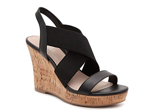 CHARLES BY CHARLES DAVID Women's Wedge Sandal Platform, Black, 7