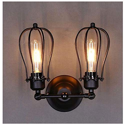 Apliques de pared Luz de pared retro, lámpara de pared industrial Loft Luces de pared antiguas Lámpara de pared retro de metal vintage para dormitorio Gazebo Bar Cocina Lámpara de pared