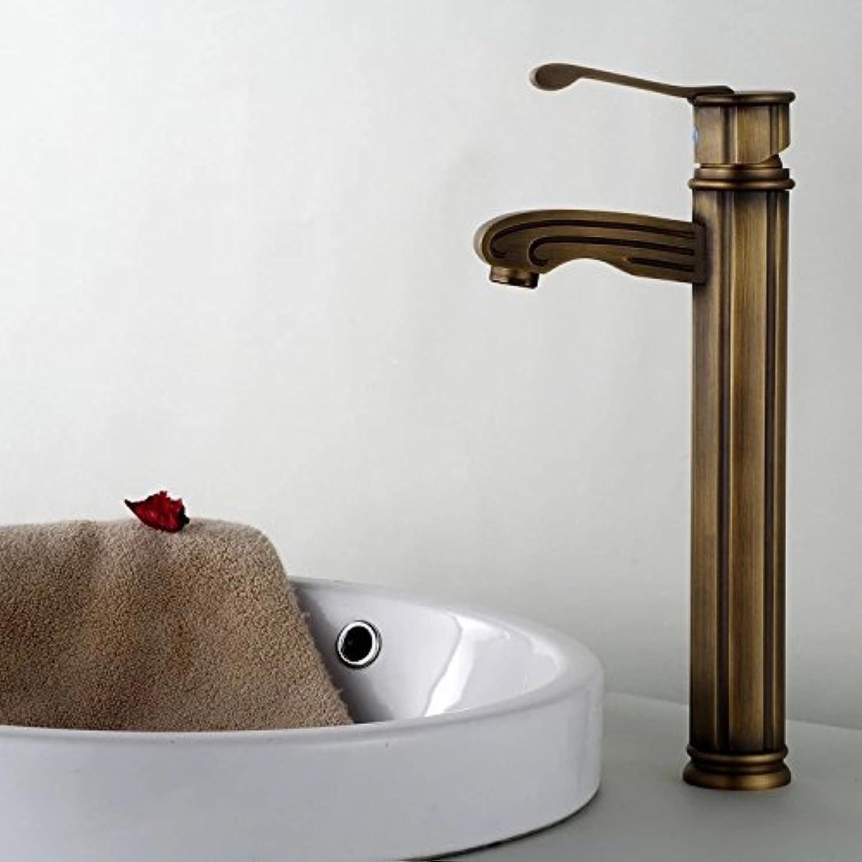 Maifeini Kupferfarbene Waschbecken Wasserhahn Bad Armatur InsGrößetion Auf Dem Deck Des Messing Antik Tippen