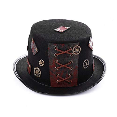 Aisoway Traje de Halloween del Sombrero de Copa del Steampunk Headwear rústica...