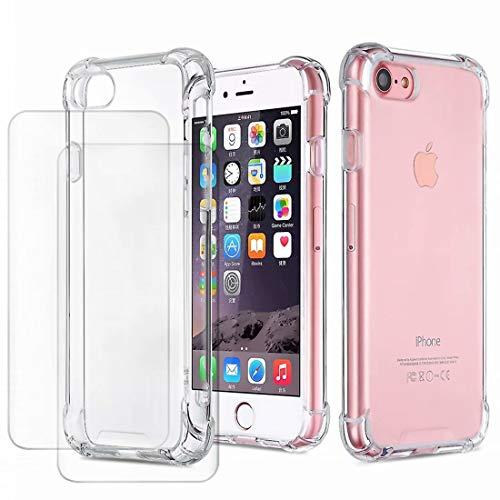 DYGG Compatible con Funda para iPhone 6 Plus /6s Plus 5.5, Carcasa Forro Transparente TPU Silicona Flexible Case+[2* Protector de Pantalla]