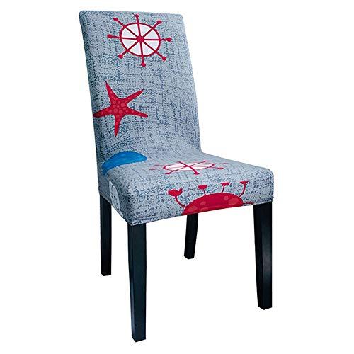 MZSC Blumen-Drucken Abnehmbare Stuhl-Abdeckung Big Elastic Slipcover Moderne Küche Sitz Fall Stretch-Stuhl-Abdeckung for Bankett Stuhlbezug (Color : 19)