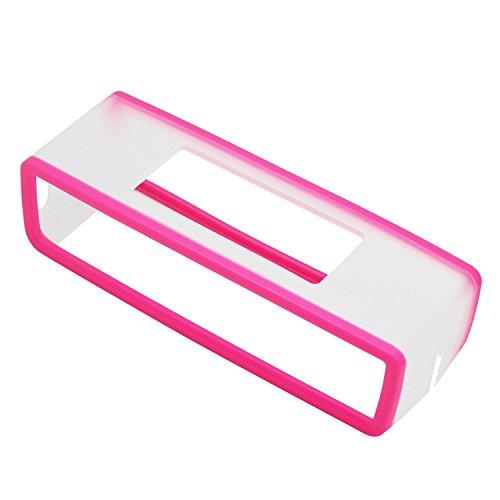 VPOWER Abdeckung Hülle für Bose Soundlink Lautsprecher Mini 2 Silikon Soft Case Cover in transparent Pink