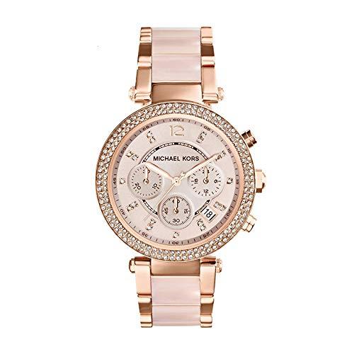 CHJ Uhr Nude Pulver Diamant Kalender Quarz weibliche Uhr MK5896 6110