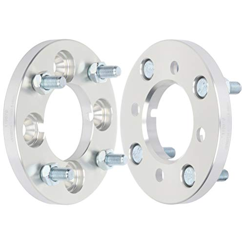ECCPP 2X 4 lug Wheel Spacers Adapters 4x100 to 4x114.3 12x1.5 71mm 15mm Silver Compatible with 1976-1987 for Ch-evr-olet Chevette 1981-1986 for Dodge Aries