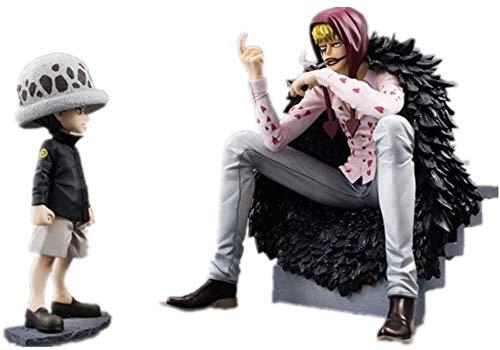 LJ-CLOOR One Piece Figure Trafalgar Law Childhood e Donquixote Rosinante Figure Anime Figure Action Figure