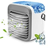 Portable Air Conditioner   HLTJAN Rechargeable Evaporative Air Cooler with Humidifier & Air Purifier & 7 Color Night Light l Persona Mini Air Conditioner Desk Fan for Home Office Bedroom