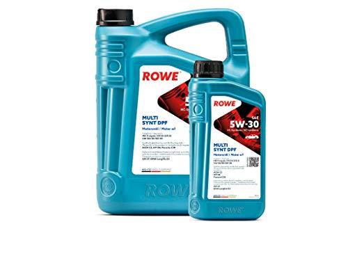 ROWE - 5 + 1 Liter HIGHTEC MULTI SYNT DPF SAE 5W-30 Motorenöl - Hochleistungs Motoröl vollsyntethisch (HC-Synthese)