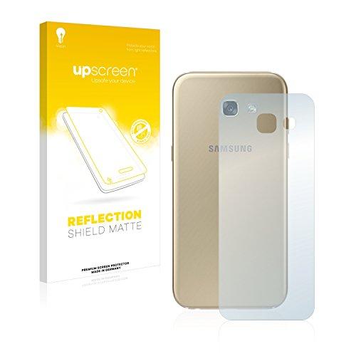 upscreen Entspiegelungs-Schutzfolie kompatibel mit Samsung Galaxy A5 2017 (Rückseite) – Anti-Reflex Bildschirmschutz-Folie Matt