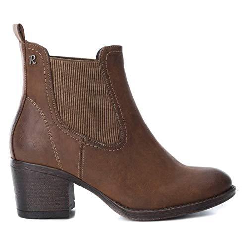 Refresh , Boots Chelsea femme - Marron - camel, 39 EU