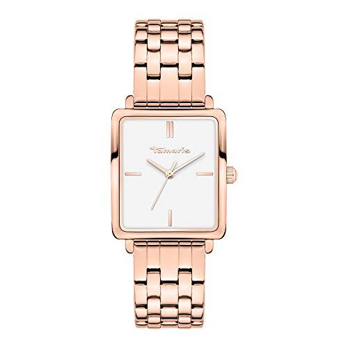 Tamaris Damen Analog Quarz Uhr mit Edelstahl Armband TT-0014-MQ