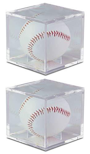 2Stück UV-geschützt Square Ball Halter Display Case Baseball von BCW