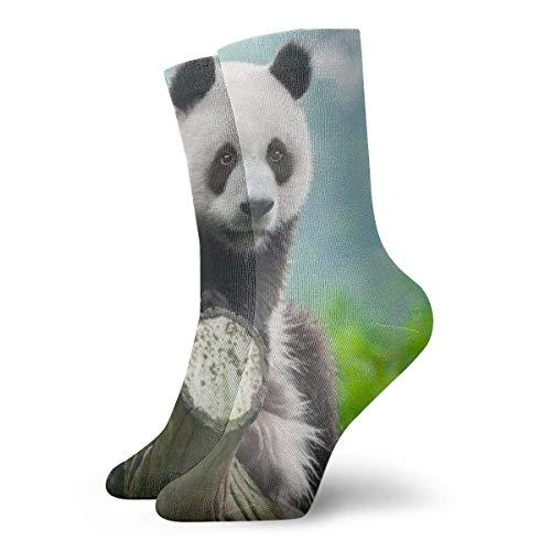 Sunny R Cute Giant Pande Calcetines cortos para adultos Calcetines divertidos para...