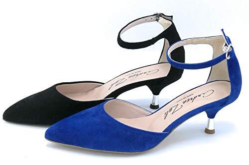 Andrea Zali 1506 - Zapatos de vestir con correa de tobillo, ante...