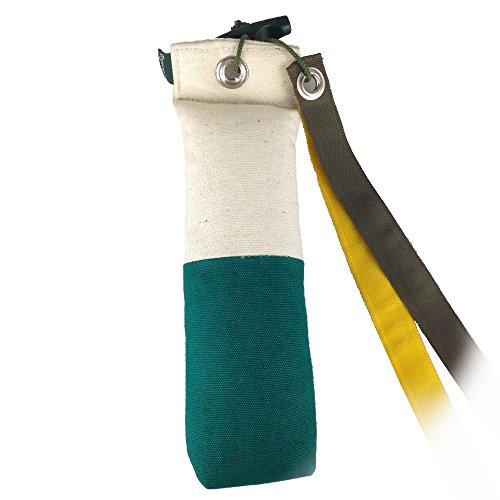 Romneys Longtail Marker Dummy | Standard Dummy 500g mit Zwei Flatterbändern | Zweifarbig | Weiß-Grün