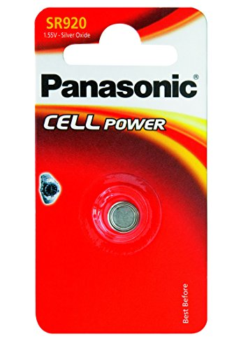 Panasonic SR 920 EL Silberoxid-Uhrenbatterien Knopfzelle (1,55V, 45mAh)