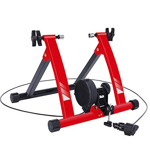 WYJW Soporte para Entrenador de Bicicleta estática para Interiores, Entrenador de Bicicleta magnético con Control de Alambre, Entrenador de Bicicleta con Turbo, Soporte magnético portát