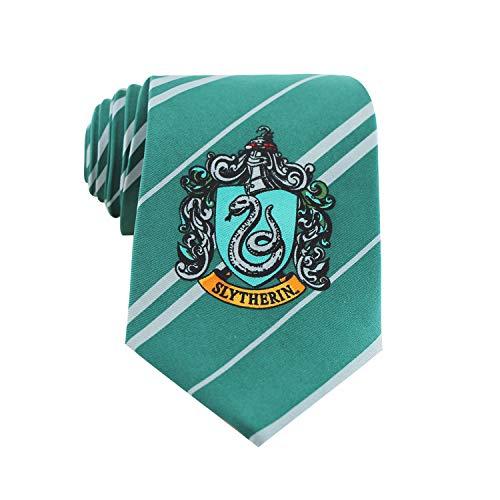 Harry Potter - Corbata Slytherin de seda (accesorio de disfraz)