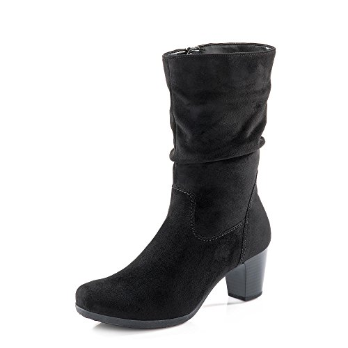 Gabor Adele Womens Suede Calf Length Boots 7 UK/ 40.5 EU Black Micro Suede