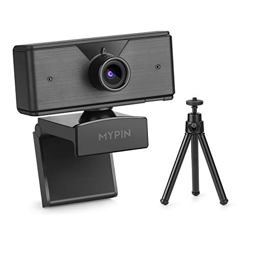 1080P Web Camera with Microphone & Tripod for Computer PC Laptop Desktop, USB Webcam for Streaming/Video Calling/Recording/Conferencing-Compatible with Windows/Mac OS