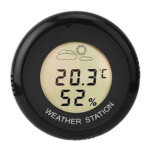 HEEPDD, termometro igrometro, igrometro, Rotondo per Uova, Temperatura e umidità, Display LCD Digitale, termometro, igrometro, misuratore per Acquario e rettili