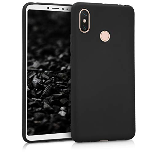 kwmobile TPU Silicone Case for Xiaomi Mi Max 3 - Soft Flexible Shock Absorbent Protective Phone Cover - Black Matte