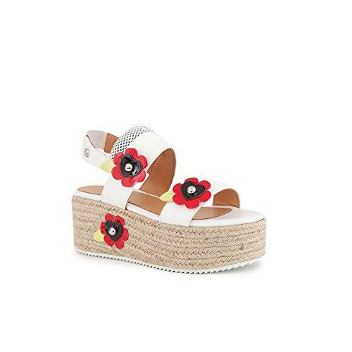 Love Moschino Chaussures Femme Sandales Compensées Blanc Printemps-été 2018