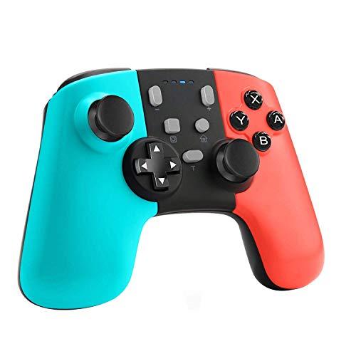 ETPARK Mando para Nintendo Switch, Bluetooth Inalámbricos Pro Nintendo Switch Gamepad Controlador Joystick con Batería Recargable, Vibración, Turbo, Giroscopio Función para Switch/Lite
