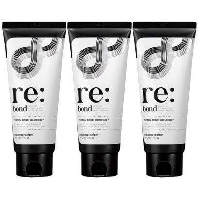 Mise En Scene Re:bond Hair Treatment Conditioners, Nourishing & Strengthening Protein Treatment, Advanced Technology Deelply Care, 200ml / Net 6.7 Fl Oz3P Set