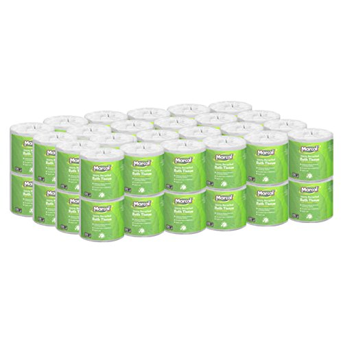 Marcal Toilet Paper 100% Recycled - 2 Ply, White Bath Tissue, 504 Sheets Per Roll - 48 'Roll Out' Rolls Per Case Green Seal Certified Toilet Paper 06495