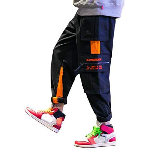 Irypulse Herren Straßenmode Chino Hosen, Cargo Arbeitshose für Jugendliche und Jungen, Lässige Sportliche Hip Hop Kampfhose - Original Design