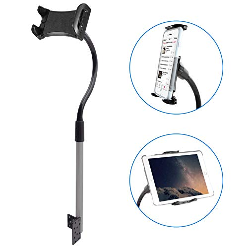 """Macally Car/Truck Seat Rail Phone and Tablet Car Mount - Adjustable Phone and Tablet Holder for Car Floor - Works with All iPad, iPhone, Tablets, Cell Phones 7""""-11"""" - Easy Bolt On Ipad Car Mount"""
