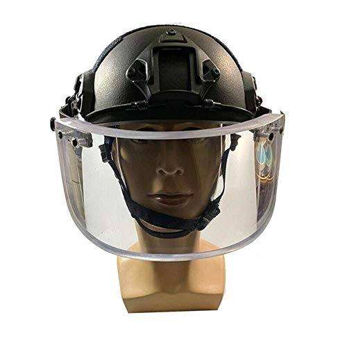 KOUJACL Visor Bullet Proof Visor for Ballistic Bulletproof Helmets (NO Helmet) (Bracket for Fast/MICH)